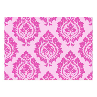 Decorative Damask Lg Pattern – Dark on Light Pink Business Card Templates