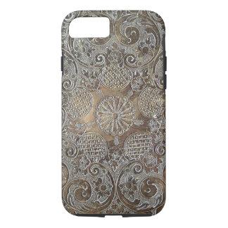 Decorative Design Flowers Metal iPhone 8/7 Case