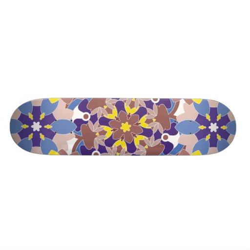 Decorative  designs in symmetrical patterns custom skateboard