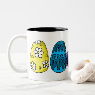 Decorative Easter Eggs Illustration Mug