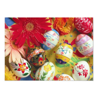 Decorative Easter Eggs Invitation cards