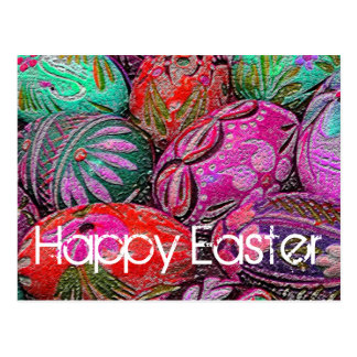 Decorative Easter Eggs Postcard
