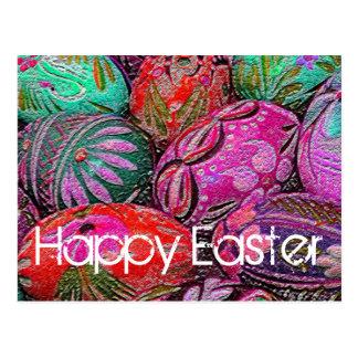 Decorative Easter Eggs Postcard