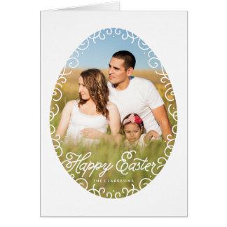 Decorative Egg Frame Easter Greeting Card