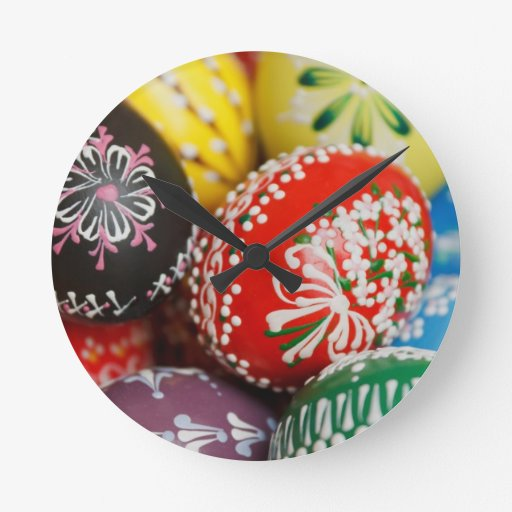 Decorative Eggs Wallclock