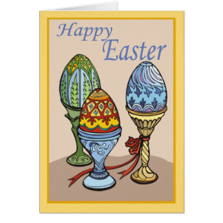 Decorative Eggs Easter Card
