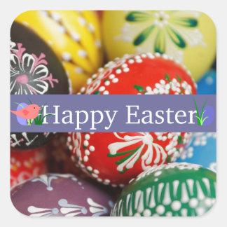 Decorative Eggs Square Sticker