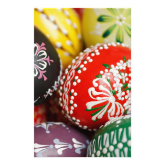 Decorative Eggs Stationery Paper