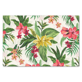 Decorative Exotic Floral Seamless Pattern Tissue Paper