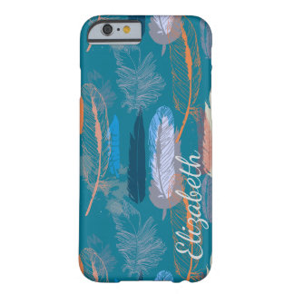 Decorative Feather Design Personalized Barely There iPhone 6 Case