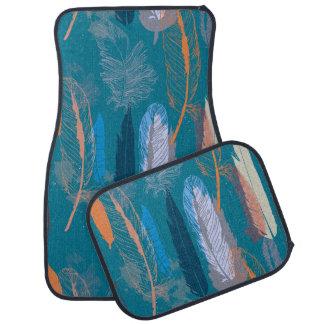 Decorative Feather Design Personalized Floor Mat