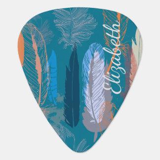 Decorative Feather Design Personalized Plectrum