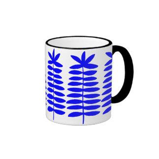 Decorative Ferns - Blue Ringer Mug