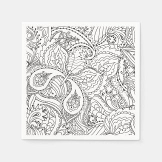 Decorative Floral Butterfly - multiple colors avai Disposable Napkin