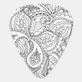 Decorative Floral Butterfly - multiple colors avai Guitar Pick