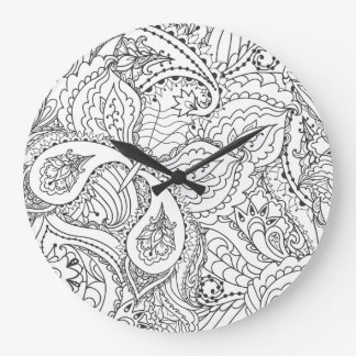 Decorative Floral Butterfly - multiple colors avai Large Clock