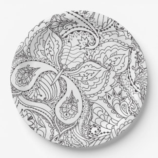 Decorative Floral Butterfly - multiple colors avai Paper Plate