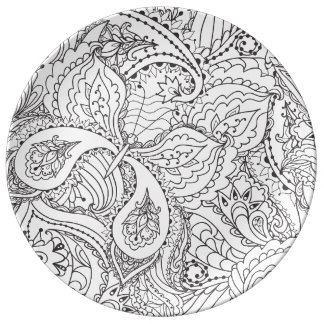 Decorative Floral Butterfly - multiple colors avai Plate