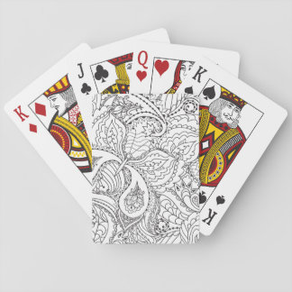 Decorative Floral Butterfly - multiple colors avai Playing Cards