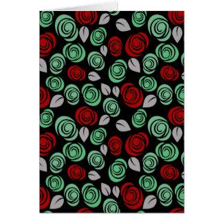 Decorative floral design card