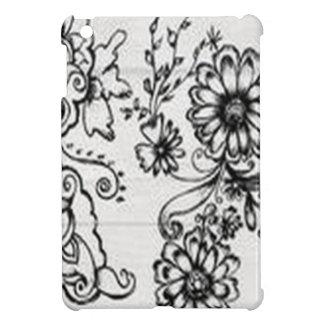 Decorative floral design iPad mini case