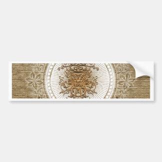 decorative floral elements bumper sticker