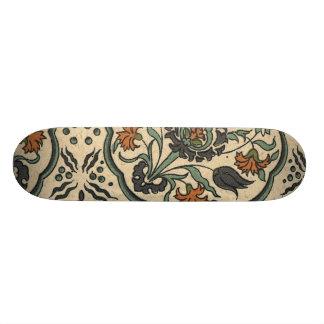 Decorative Floral Persian Tile Design 21.6 Cm Old School Skateboard Deck