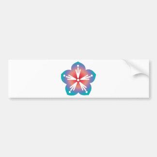 Decorative Flower Bumper Sticker