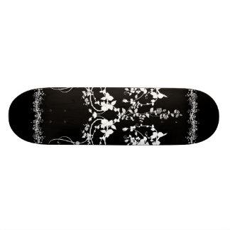 Decorative flower design skate board deck