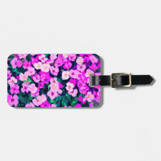 Decorative Flower Pattern Luggage Tag