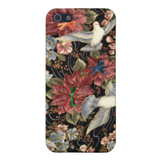 Decorative Flowers And Doves Case For iPhone 5/5S