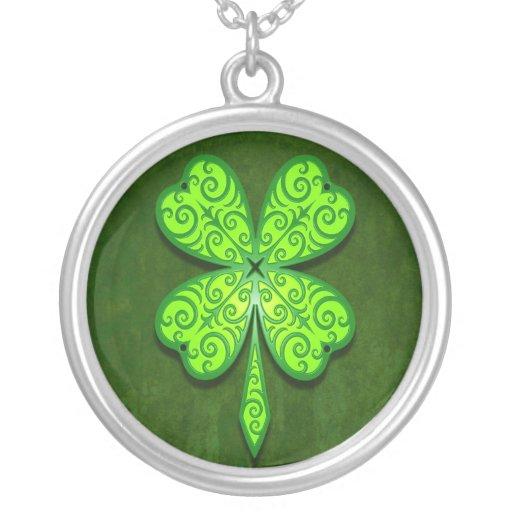 Decorative Four Leaf Clover Custom Necklace