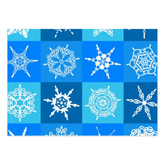 Decorative frost business card