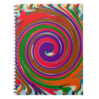 Decorative Fruity Twirl Wave Pattern Notebook