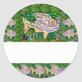 Decorative FUN ART all occasions TEMPLATE DIY Round Sticker