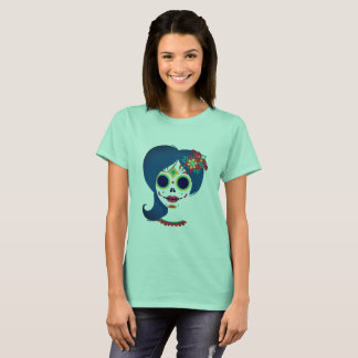 Decorative funny Mexican women head T-Shirt