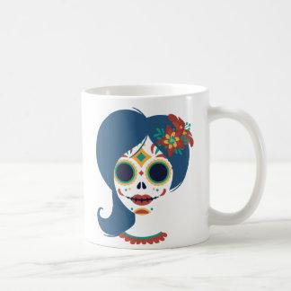 Decorative funny Mexican women skull head Coffee Mug