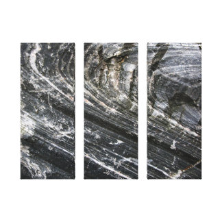 Decorative Geology Curved Rock Texture Canvas Print