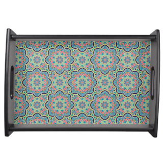 Decorative Geometric Pattern Small Serving Tray. Serving Tray