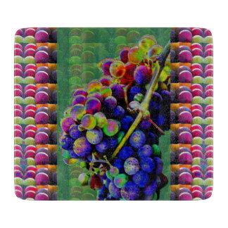 Decorative Glass Cutting Board GRAPES NATURE ART