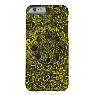 Decorative Gold Demon Lotus Mandala iPhone Barely There iPhone 6 Case
