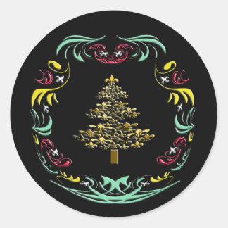 Decorative Gold Fleur de Lis Christmas Tree Stickers