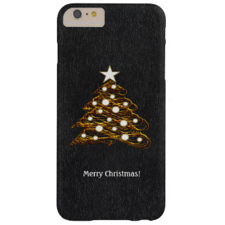 Decorative Golden Christmas Tree | Holiday Gifts Barely There iPhone 6 Plus Case