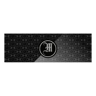 Decorative Gothic Monogram Pack Of Skinny Business Cards