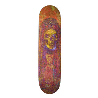 Decorative Gothic Skeleton Skate Board