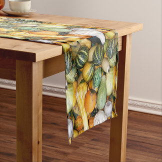 Decorative Gourds Photo Short Table Runner