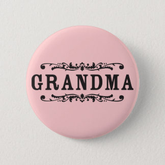 Decorative Grandma 6 Cm Round Badge