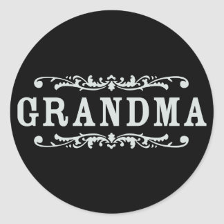 Decorative Grandma Classic Round Sticker