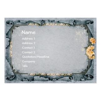 Decorative Gray Large Business Cards (Pack Of 100)