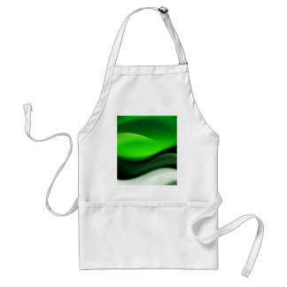 Decorative Green Abstract Waves Digital Art Apron